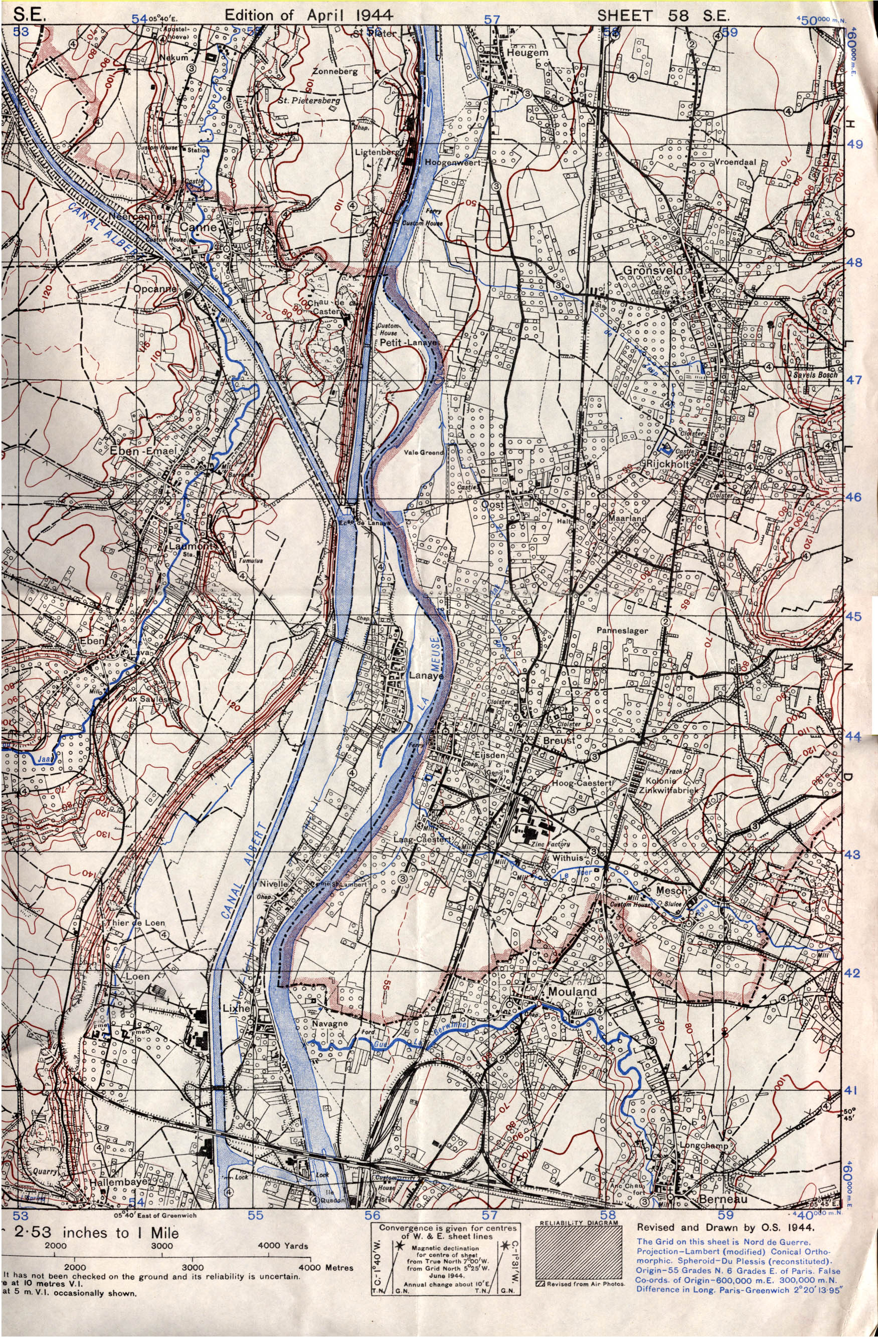 north east north east smaller view red line is general front line on sept 15th 1944
